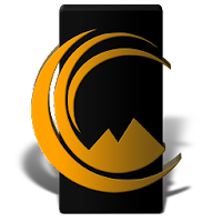Up Black Orange Icon Pack For PC (Windows And Mac)