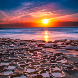 Planet Dusk by Mike Zampelli - Landscapes Sunsets & Sunrises ( tidepool, san diego, california, sunset, landscape, pothole, la jolla, coast,  )