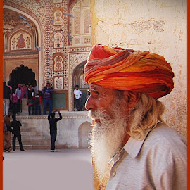 TheOld Palace Guard by Prasanta Das - People Portraits of Men ( old, guard, palace )