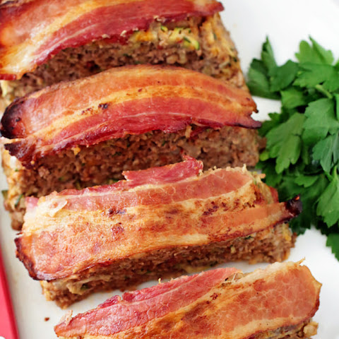 Bacon-Wrapped Zucchini Meatloaf