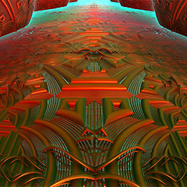 Lost Quantum Effect by Rick Eskridge - Illustration Abstract & Patterns ( abstract, 3, patterns, fractal, twisted brush )