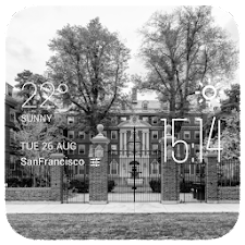Cambridge weather widget/clock