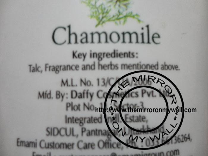 Emami Golden Beauty Alpine Dew Talc Ingredients