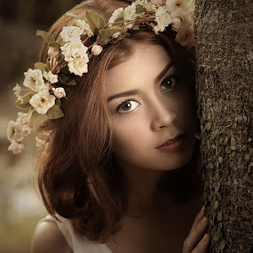 The Forest Nymph by Lucky E. Santoso - People Portraits of Women
