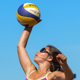 Beach Volleyball by Pierre Tessier - Sports & Fitness Other Sports ( volleyball, jeux du québec,  )