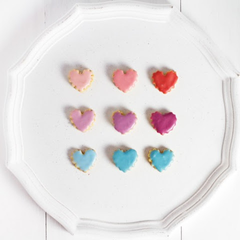 Mini Valentine's Day Gluten Free Shortbread Cookies