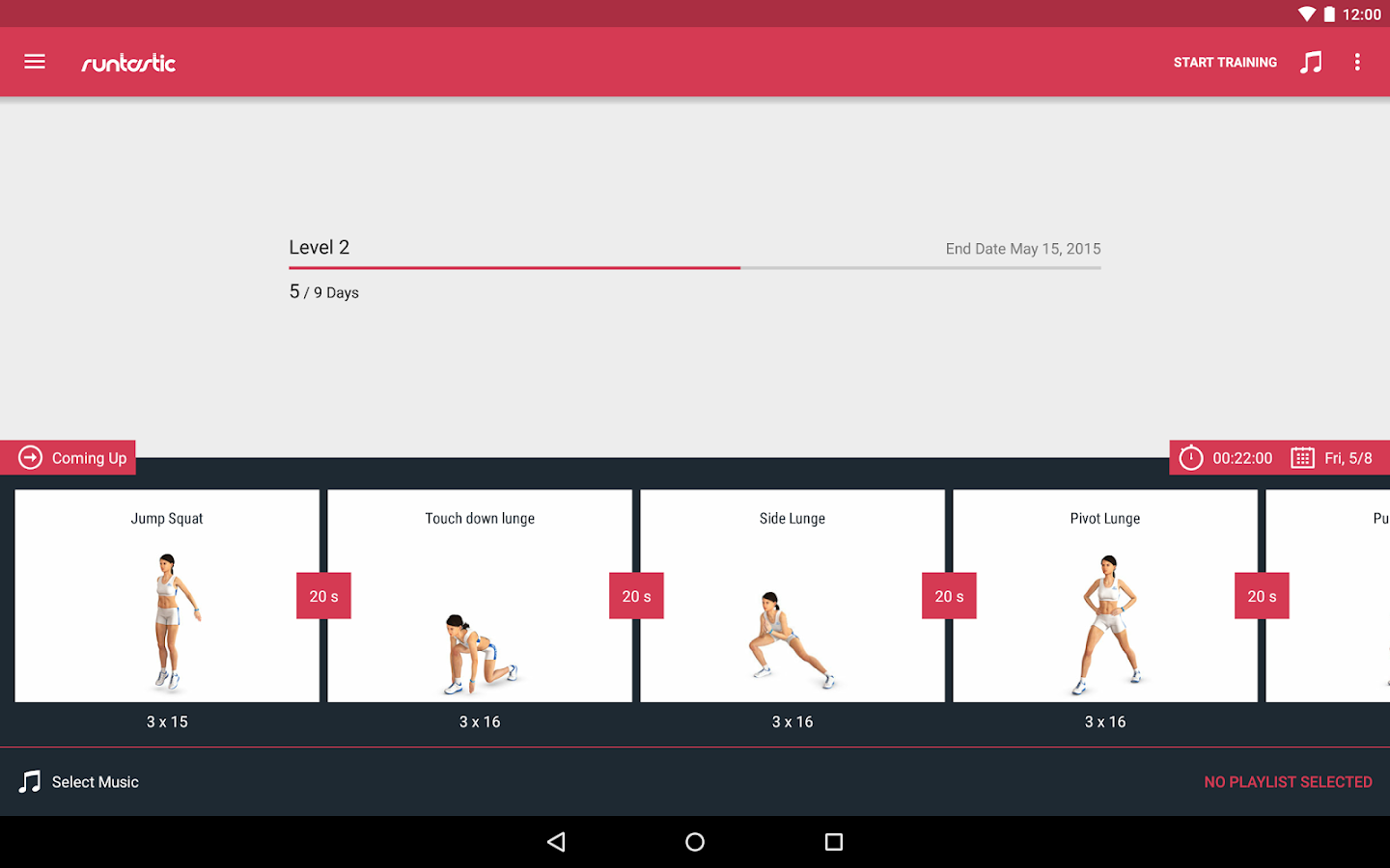 Runtastic Leg Workout Trainer Screenshot 7