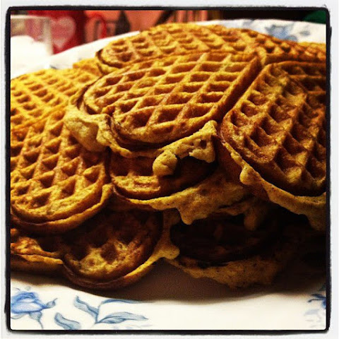Sunday Pumpkin Waffles