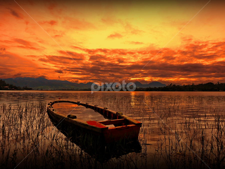 ::. Abandoned  .:: by DODY KUSUMA  - Landscapes Waterscapes ( red, sunset, indonesia, pangalengan, barlin, yellow, landscapes, garyfonglandscapes, holiday photo contest, photocontest, wood, pwc, landscape, beach )