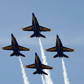 Diamond Formation by Bill Telkamp - Transportation Airplanes ( airplanes, airplane, blue angels, airshow )