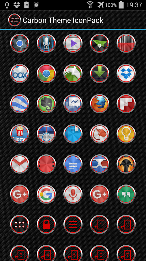 Carbon Theme for Apex Nova ADW Screenshot 5