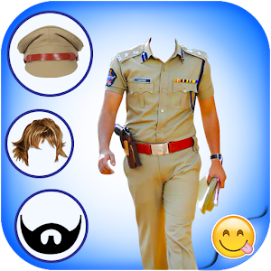 Man Police Suit Photo Editor Selfie Candy Camera