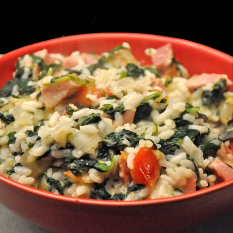 Ham and Spinach Risotto