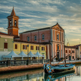 by Mario Horvat - Buildings & Architecture Places of Worship ( water, church, cesecenato, street, travel, museum, boat, sailboat, canal, touristic, sky, italia, autumn, sunset, sail, italy )