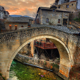 Mostar, Bosnia and Herzegovina by Nenad Vujičić - Buildings & Architecture Bridges & Suspended Structures ( stone, bosnia, bridge, mostar, river )