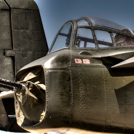 Tail Gunner by Greg Bennett - Transportation Airplanes ( north american aviation, tail gunner, illinois, scott afb, pacific, 1940, world war ii, japan, centennial celebration, bomber, aircraft, b-25, army air corps, air plane )