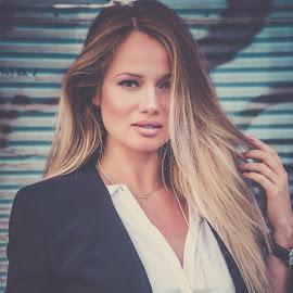 Lina by Ioannis Fine Art - People Portraits of Women ( moda, blonde, fashion, model, sweet, girl, woman, casual, portrait )