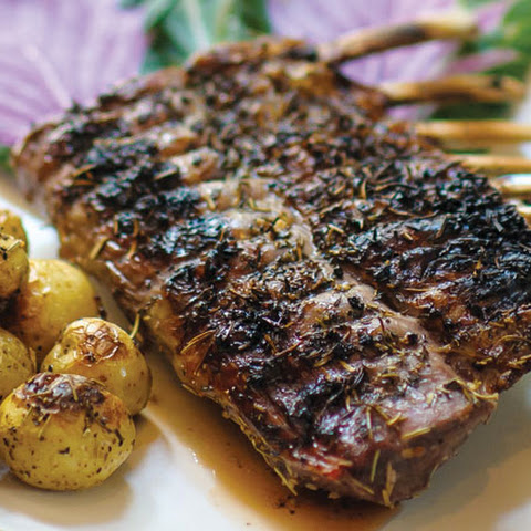 Herb-Crusted Half Rack of Lamb with Baby Potatoes