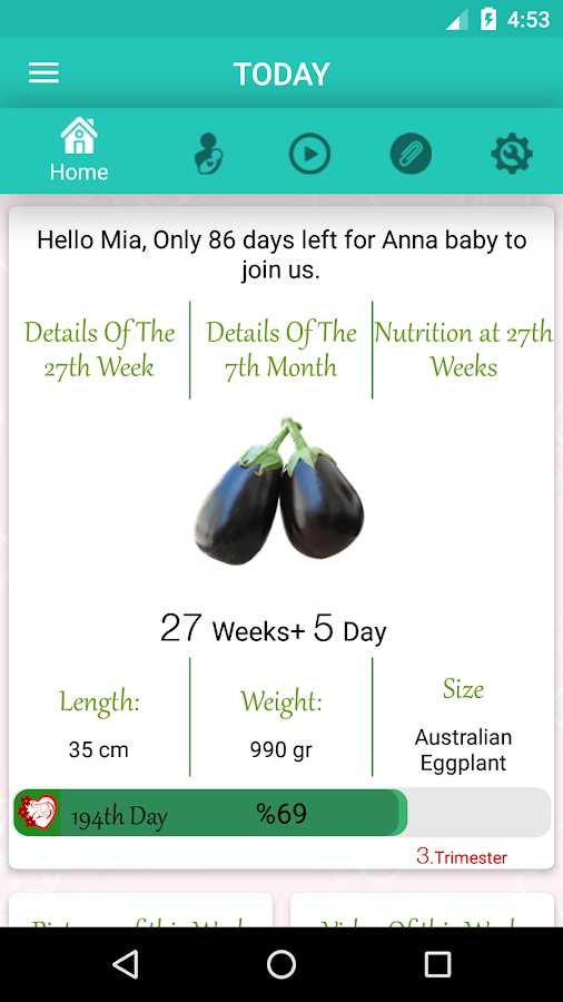 Pregnancy Week By Week — приложение на Android