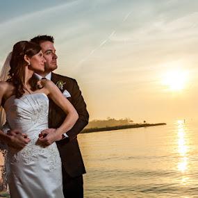 by Steven C. Bloom - Wedding Bride & Groom