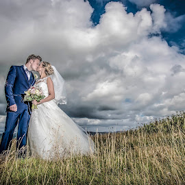Wuthering Heights by Peter Anslow - Wedding Bride & Groom ( wedding photography, wedding photographers, wedding day, weddings, bride and groom )