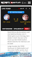 Screenshot of sport.ch SPSN