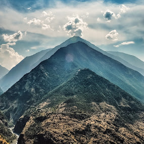 Layers by Fateen Younis - Landscapes Mountains & Hills ( clouds, garyfonglandscapes, pakistan, holiday photo contest, kkh karakoram fateen layers indus, photocontest,  )