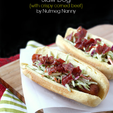 Slaw Dogs {with crispy corned beef}