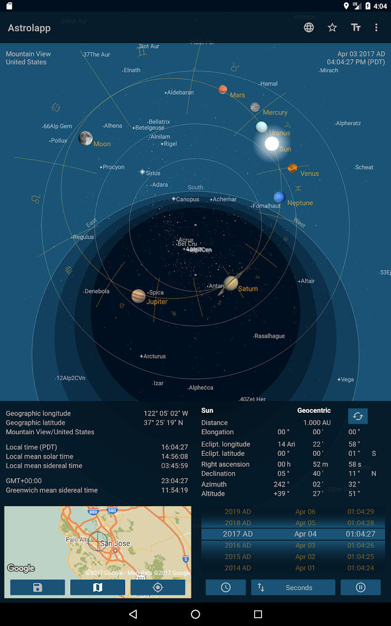 Astrolapp Live Planets and Sky Map Screenshot 8