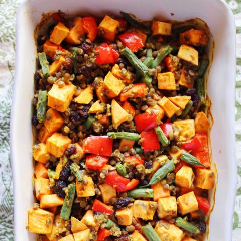 Sweet Potato Lentil Casserole