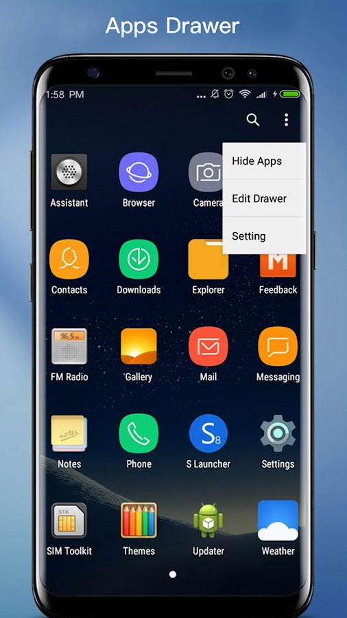 S S8 Launcher - Galaxy S8 Launcher, theme, cool Screenshot 1