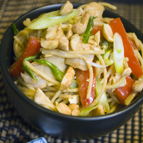 Thai Peanut Turkey and Noodles - A Leftover Turkey Recipe Revolution