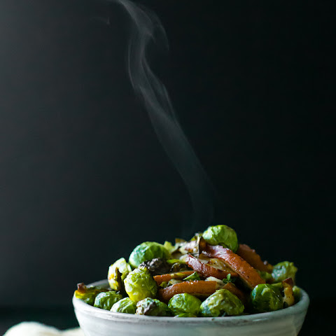 Roasted Pear and Brussels Sprouts