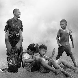 childhood by Robby Montolalu - Digital Art People ( sangihe, indonesia, children, tahuna, people )