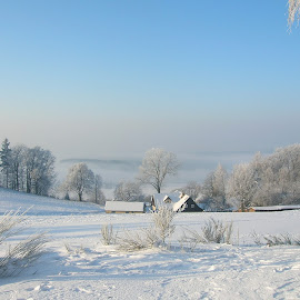 winter landscape by Standásek Hrubý - Landscapes Weather ( winter landscape, white )