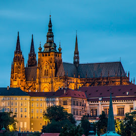 by Mario Horvat - Buildings & Architecture Places of Worship ( castle, church, night, chatedral, prague, blue hour )