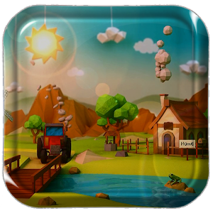 Low Poly Farm Live Wallpaper