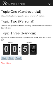 Impromptu Topic Generator - screenshot