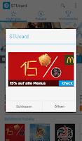 Screenshot of STUcard