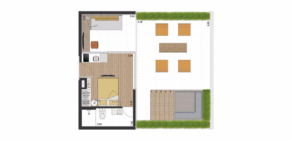 Garden Tipo 3  - 65 m²