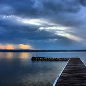 Tuggerah storm by David Spillane - Landscapes Waterscapes