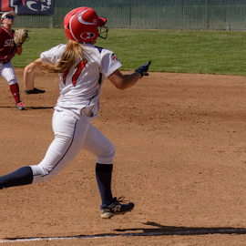 Out at first by Matt Folsom - Sports & Fitness Baseball ( sierra college softball, arc, 2015 )