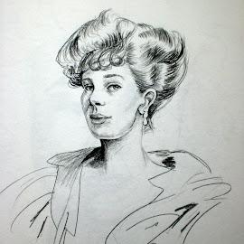Posh by Natasha Rupert - Drawing All Drawing ( pencil, sketch, woman, lady, drawing )