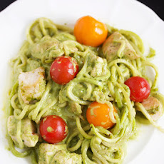 "Creamy Pesto Chicken ""Pasta"""