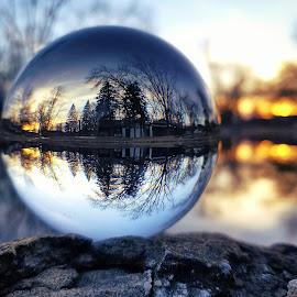 Sunrise  by Marta Rac-Rad - Instagram & Mobile Android ( reflection, trees, lake, sunrise, morning )