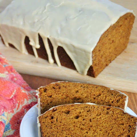 Pumpkin Bread with Browned Butter Whiskey Glaze