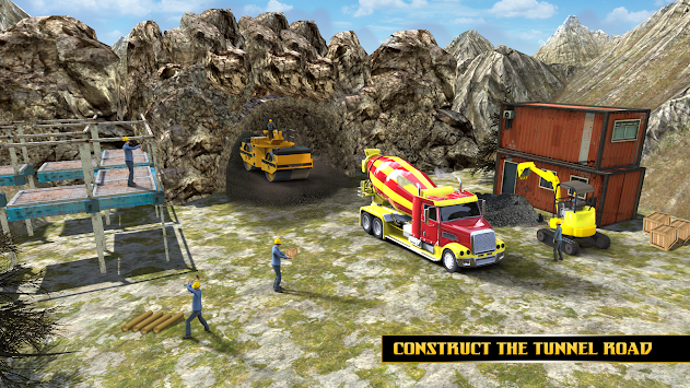 Highway Tunnel Construction & Cargo Simulator 2018 APK screenshot thumbnail 3