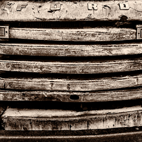 Old Ford by Sean Marquantte - Black & White Objects & Still Life ( this photo created by smp121980!, denver photographer, sean marquantte,  )