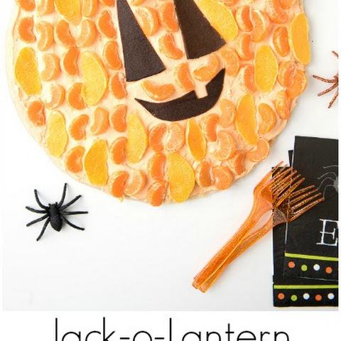 Jack-o-Lantern Fruit Dessert Pizza