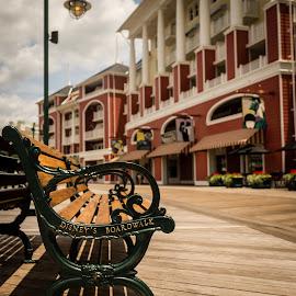 Disney Boardwalk. by Jerry Burkard - City,  Street & Park  Amusement Parks
